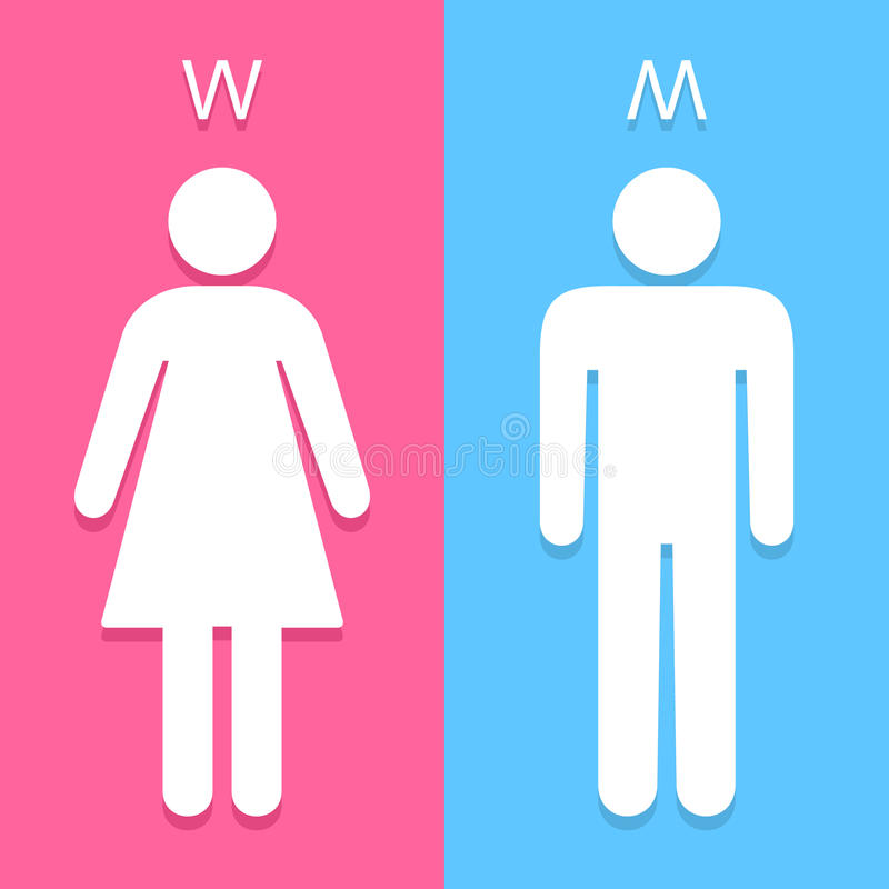 Download Men And Women Toilet Sign Great For Any Use. Vector EPS10. Stock  Vector