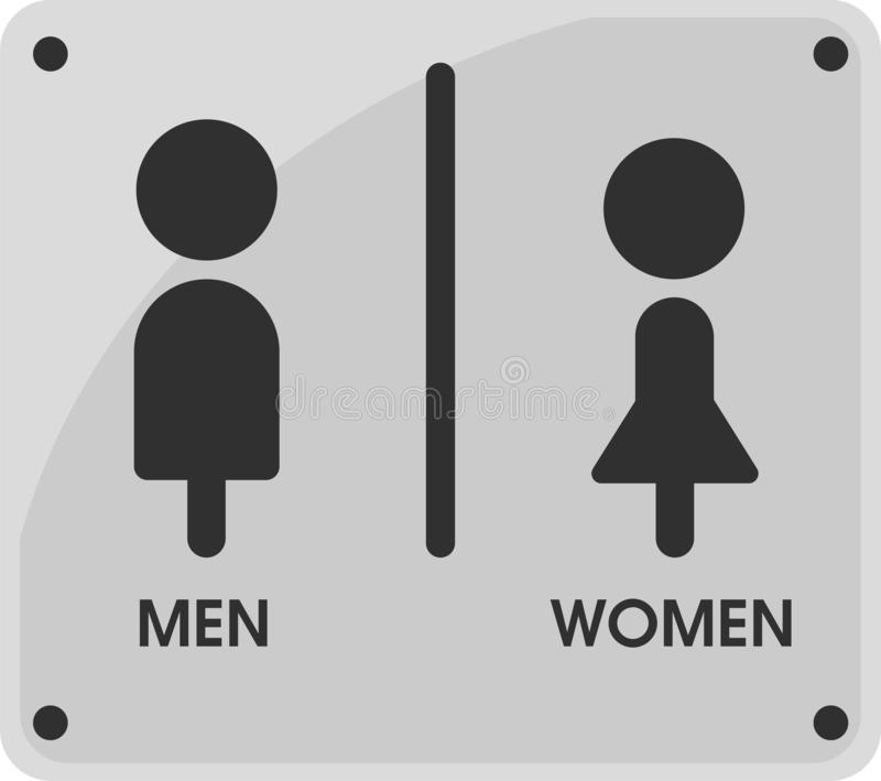 Men and Women Toilet sign icon themes That looks simple and modern. Illustration Vector EPS10.  royalty free illustration