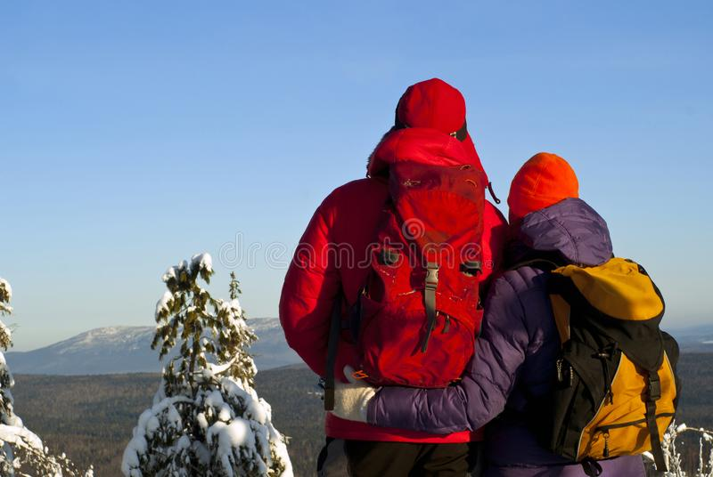 Adventures together royalty free stock images