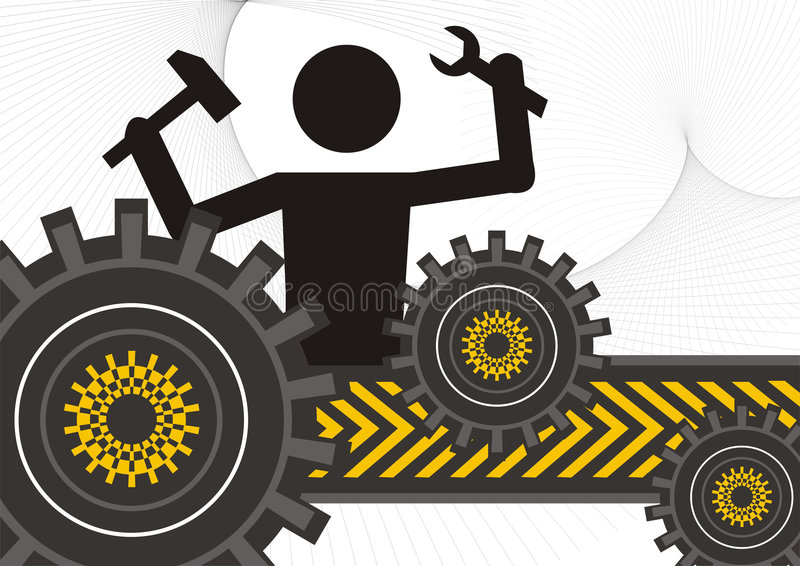 Download Men at work stock illustration. Illustration of tools - 9177034