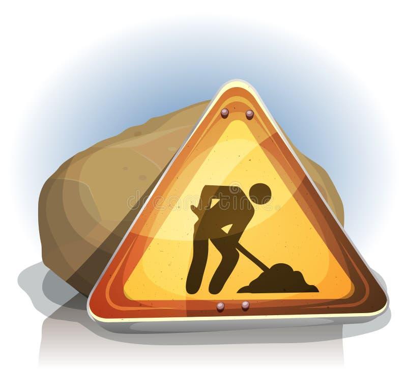 Men At Work Road Sign royalty free illustration