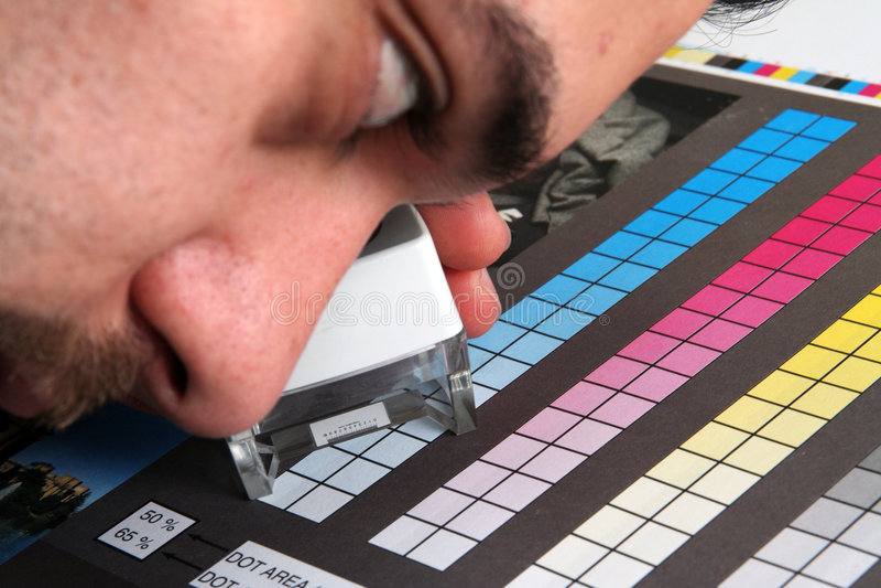 Menagement da cor da produção da cópia foto de stock royalty free
