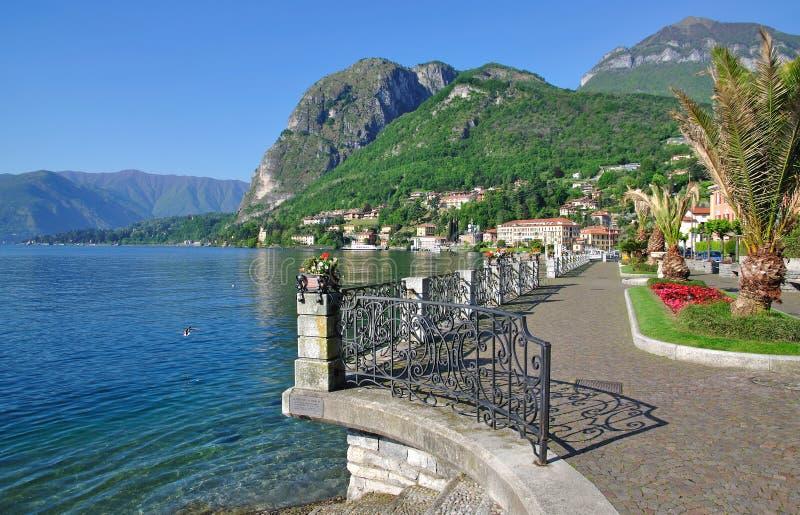 Menaggio, lago Como, asistente ve, Italia imagen de archivo