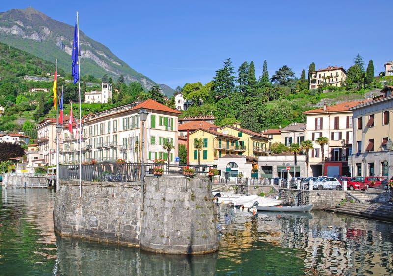 Menaggio, Meer Como, Bezoeker ziet, Italië stock afbeelding