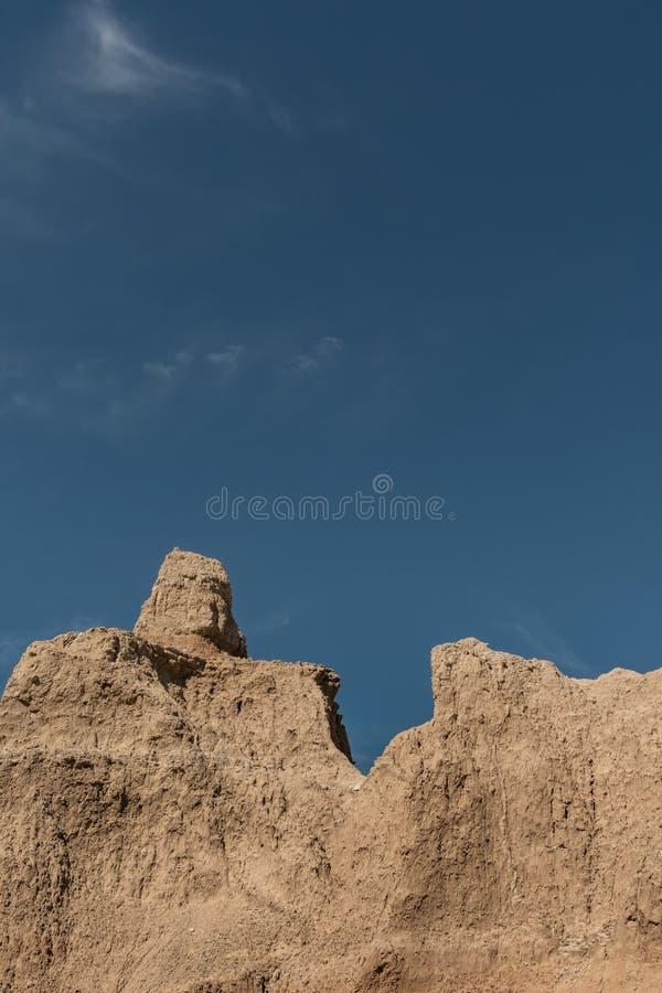 Menagramo e cielo blu asciutti fotografia stock