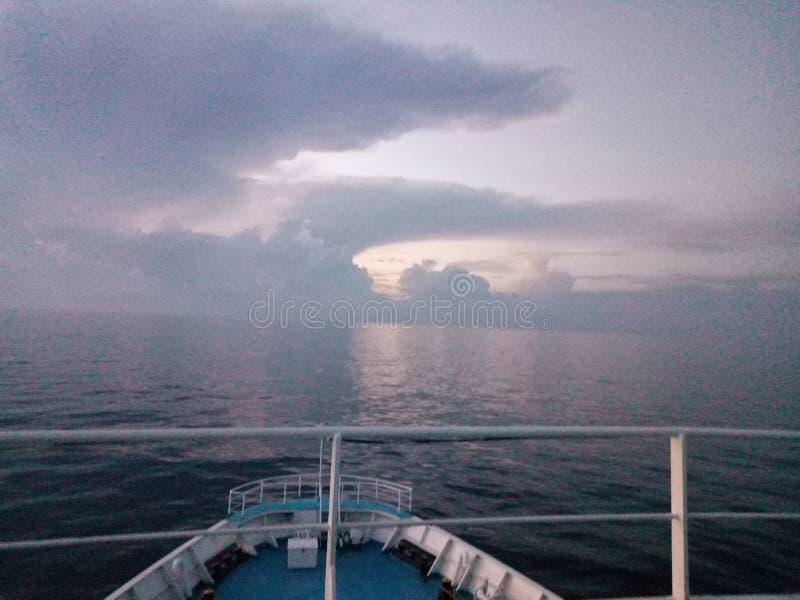 Menanti sunrise stock photo