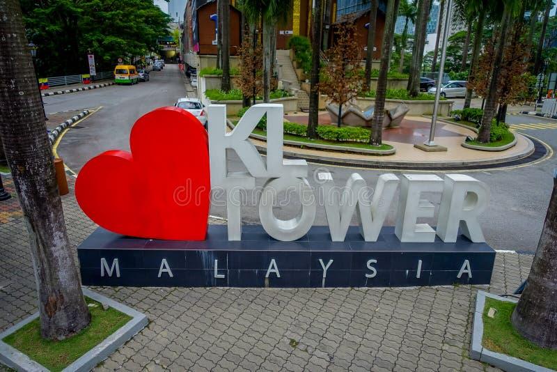 Menara吉隆坡塔是一个commmunication塔和最高的观点在对公众开放的吉隆坡 免版税库存照片
