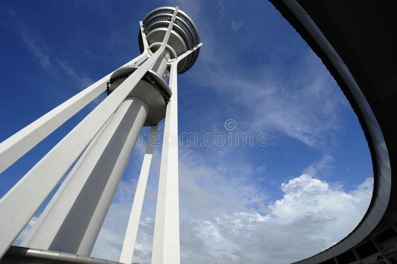 Menara Alor Setar. Alor Setar Tower is a 165.5 m telecommunication tower in Alor Setar, Kedah, Malaysia. Apart from serving the role of a telecommunication tower stock images