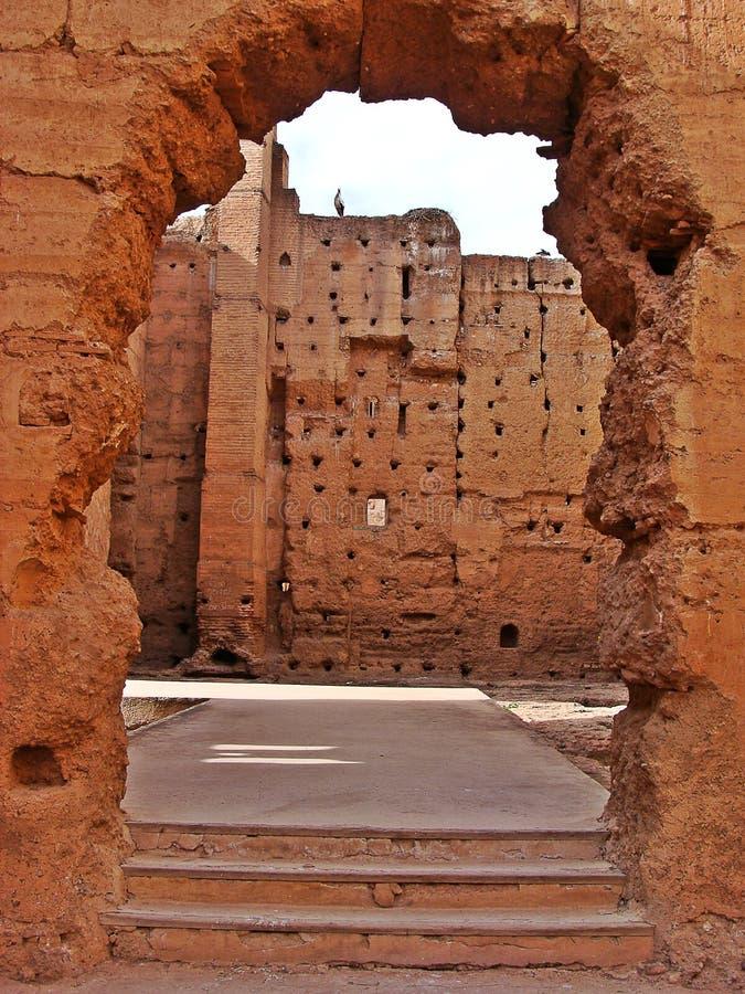 The Menara garens stock photos