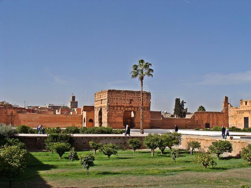 The Menara garens stock image