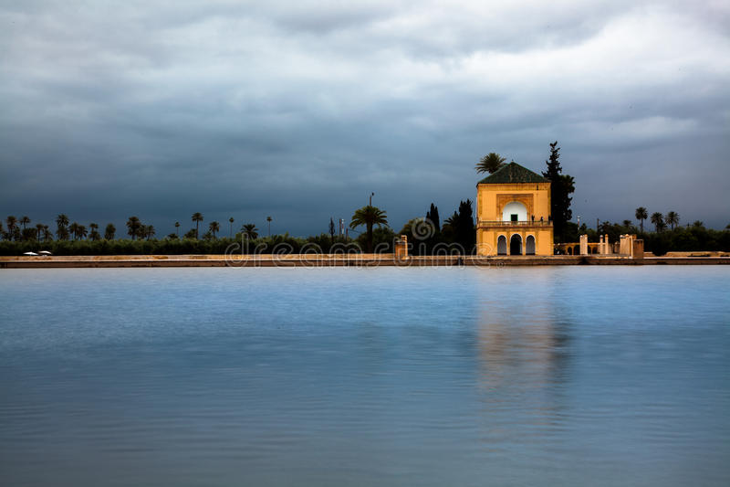 Menara-Garten, Marrakesch, Marocco lizenzfreie stockfotos