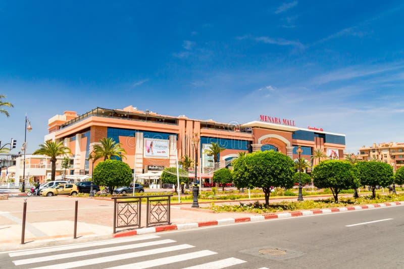 Menara-Mall in Marrakesch Menara-Mall ist eins des größten Einkaufszentrums in Marrakesch lizenzfreie stockbilder