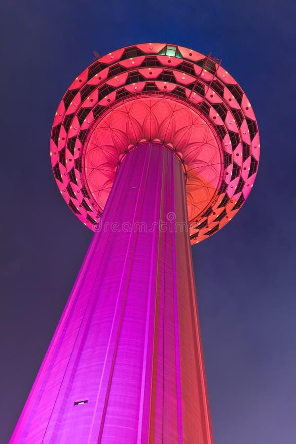Menara tv tower at Kuala Lumpur (Malaysia). Architecture background stock images