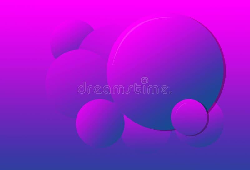 Menchia purpurowy gradientcolor okrąża tło ilustracja wektor