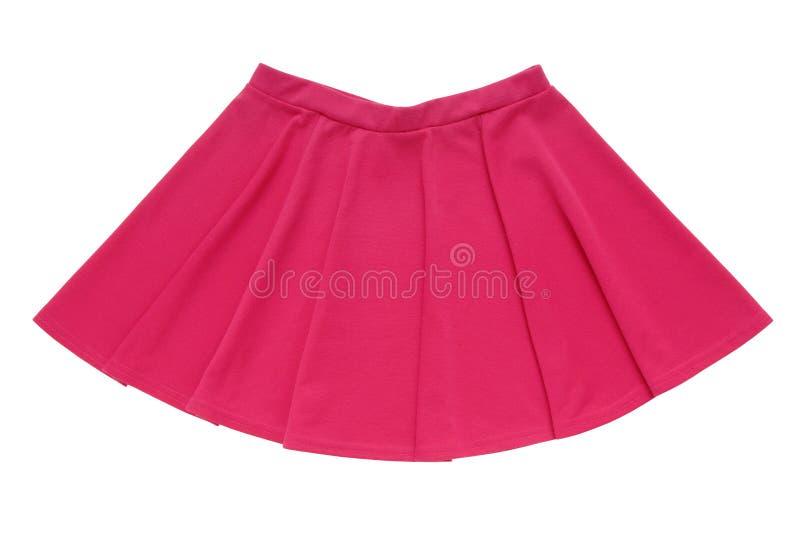 Menchia zgłębiająca odizolowywa, spódnica fuksi colour obrazy royalty free