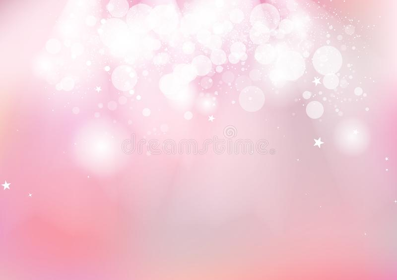 Menchie, Bokeh jarzy się gwiazdy błyskotanie rozpraszają romantyczną pastelową plamę c ilustracji