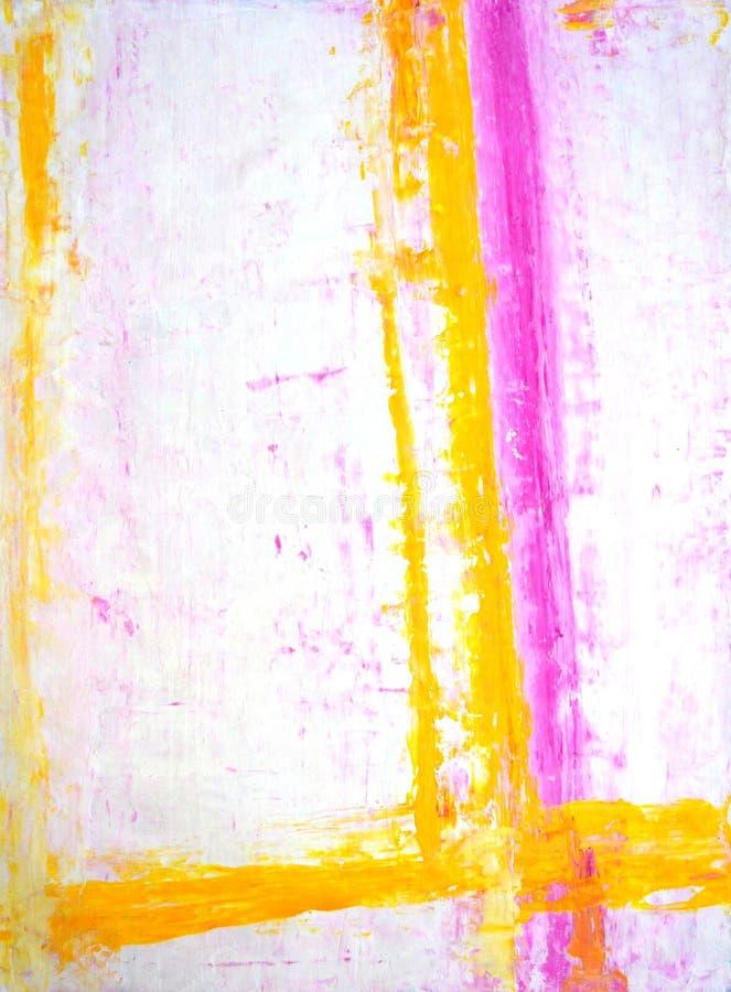 Menchie i Żółty Abstrakcjonistycznej sztuki obraz zdjęcia stock