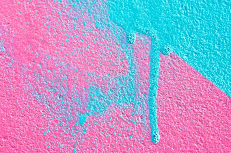 Menchie i błękitna farba zdjęcia royalty free