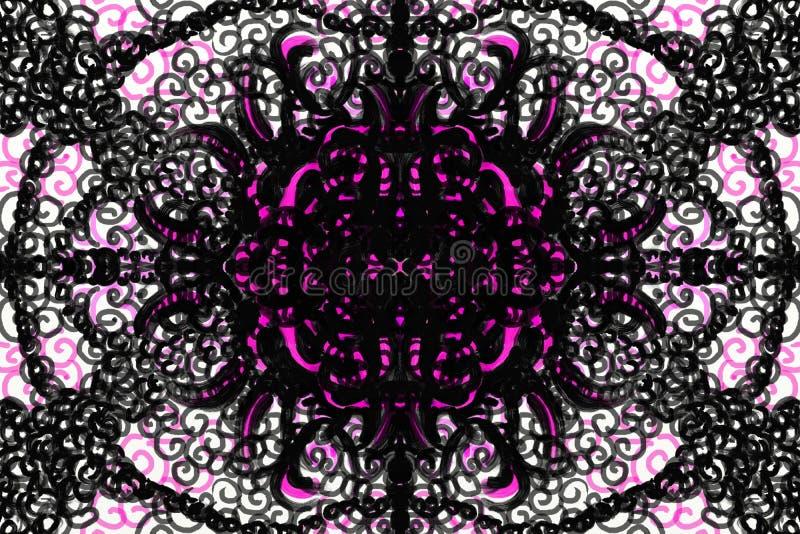 Menchie i czerń odzwierciedlający wzór ilustracja wektor