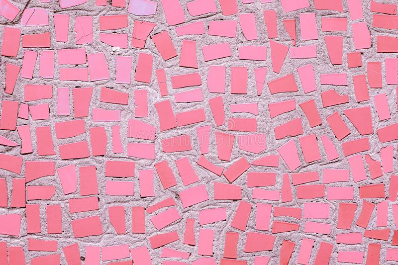 Menchii mozaiki ceramicznych p?ytek neutralny barwiony t?o obraz stock