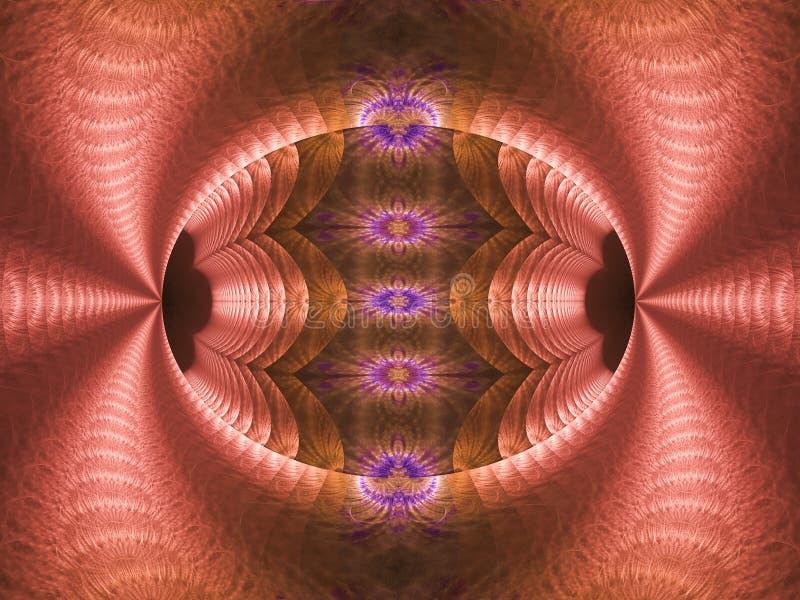 Menchii, purpur, błękita i brązu jajko, płonie fractal ilustracja wektor
