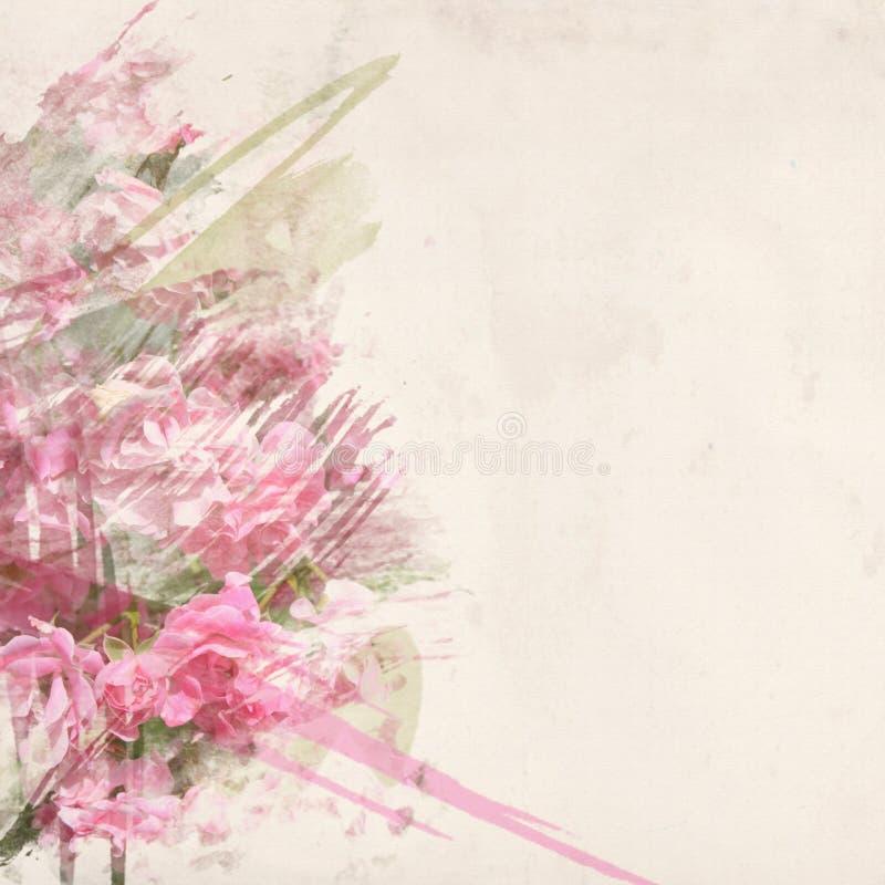 Menchii róży akwareli sztuka zdjęcie royalty free