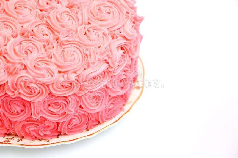 Menchii róży gradientu tort zdjęcia royalty free