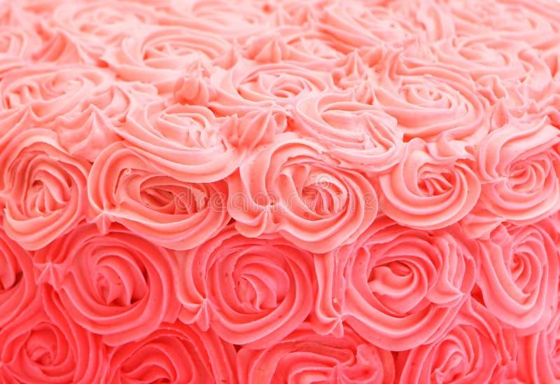 Menchii róży gradientu tort zdjęcia stock