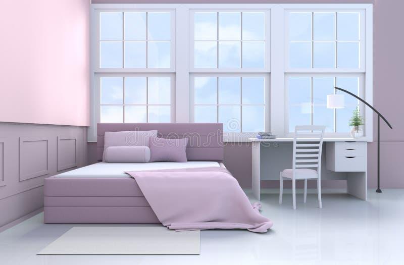 Menchii sypialni 3d rendering ilustracji