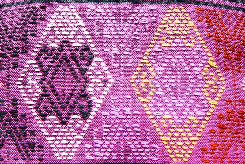 Menchii Tajlandia Pasiasty bawełniany tło obrazy stock