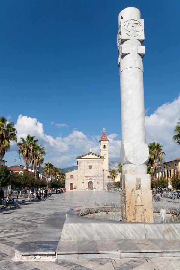Menconivierkant, Marina di Carrara, Italië royalty-vrije stock fotografie