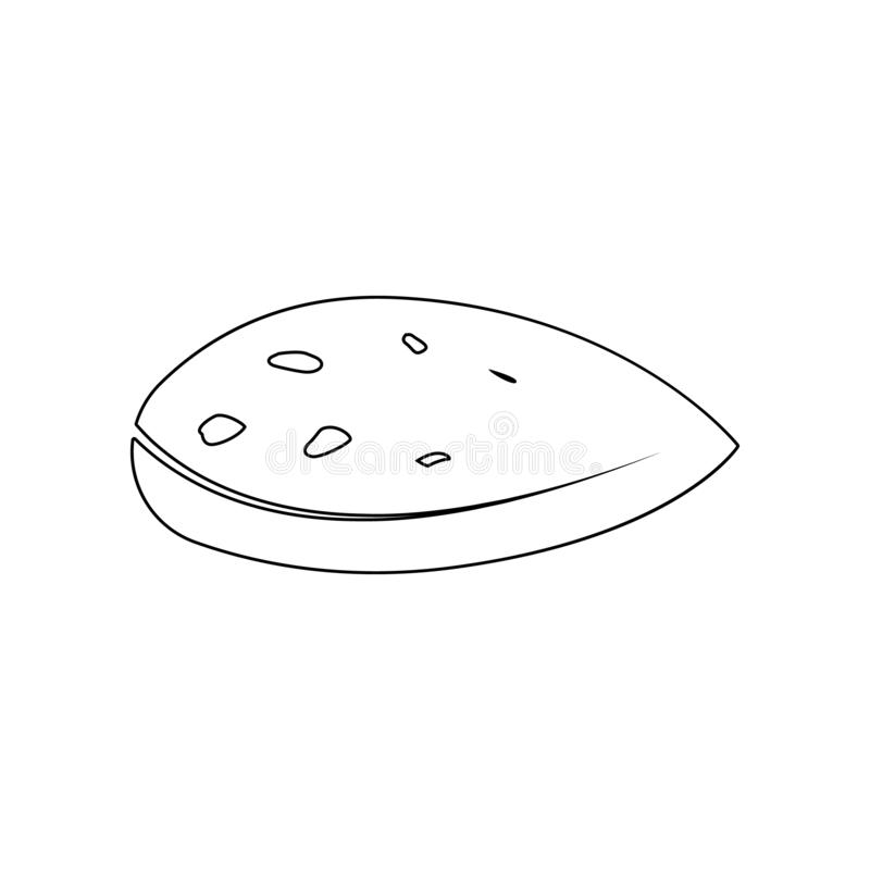 mendal icon. Element of nuts for mobile concept and web apps icon. Outline, thin line icon for website design and development, app royalty free illustration