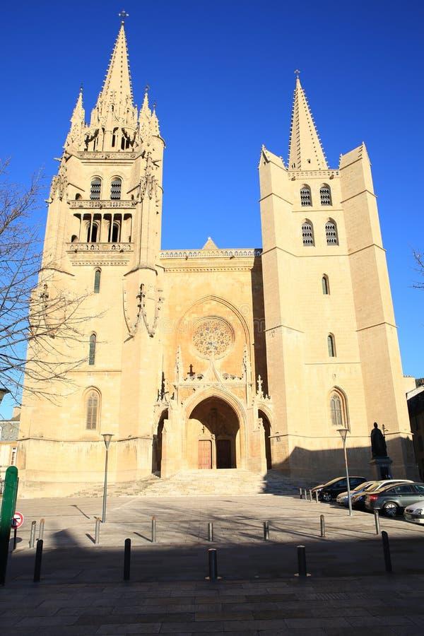Mende Cathedral histórico, França sul imagem de stock