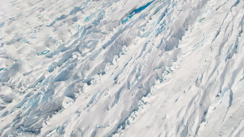 Mendenhall冰川朱诺阿拉斯加冰雪和水 库存照片