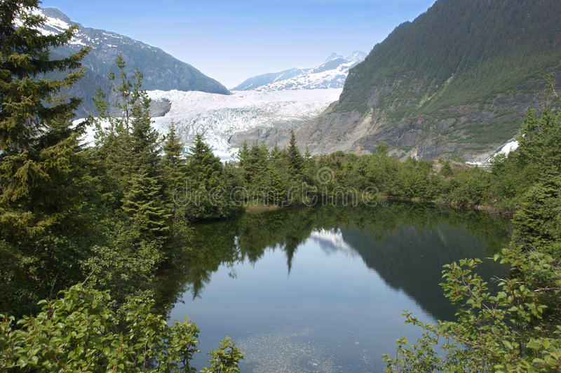 mendenhall озера juneau ледника Аляски ближайше стоковое фото rf