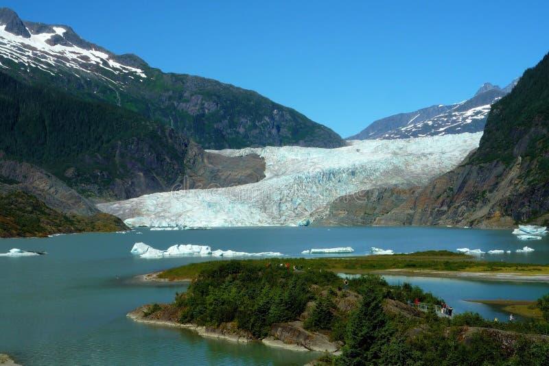 Mendenhall glaciär royaltyfri bild