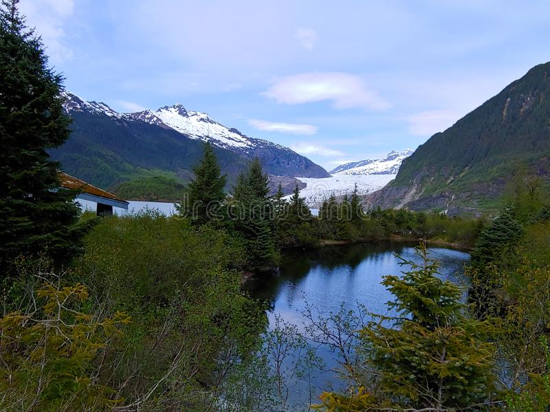 Mendenhall glacier in Alaska royalty free stock photo