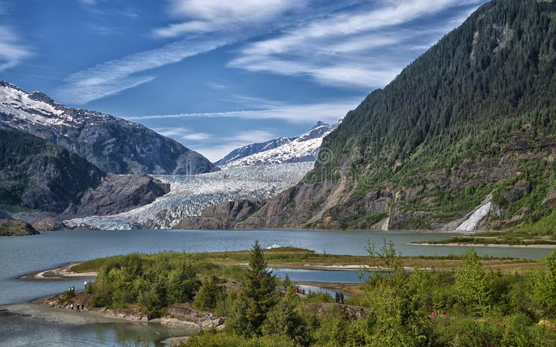 Mendenhall Glacier, Juneau, Alaska stock photo