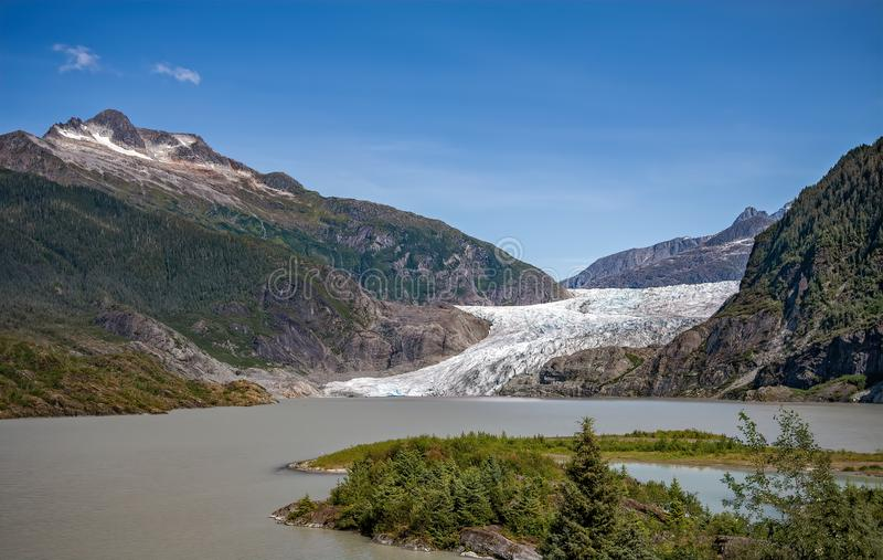 Mendenhall Glacier and Lake stock image