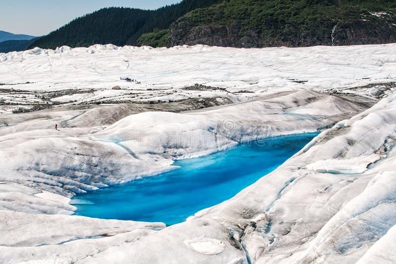 Mendenhall Gletscher lizenzfreie stockfotografie