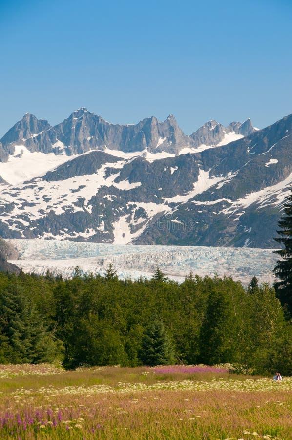 Mendenhall Gletscher, Alaska lizenzfreie stockbilder