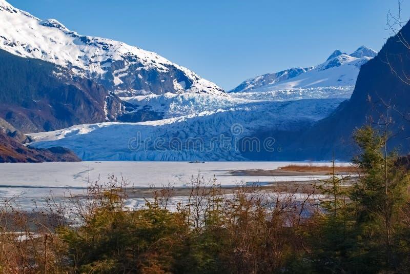 Mendenhall Gletscher Juneau Alaska lizenzfreies stockbild