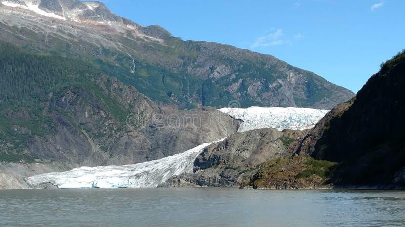 Mendenhallgletsjer in Juneau Alaska E r stock fotografie