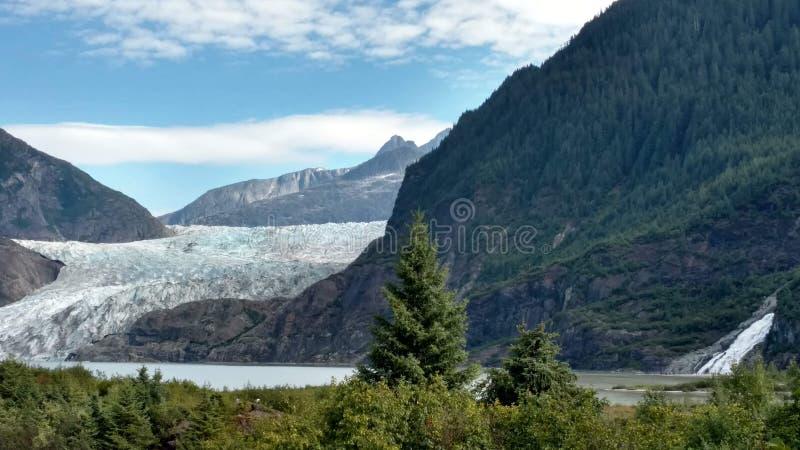 Mendenhallgletsjer in Juneau Alaska E r stock afbeeldingen