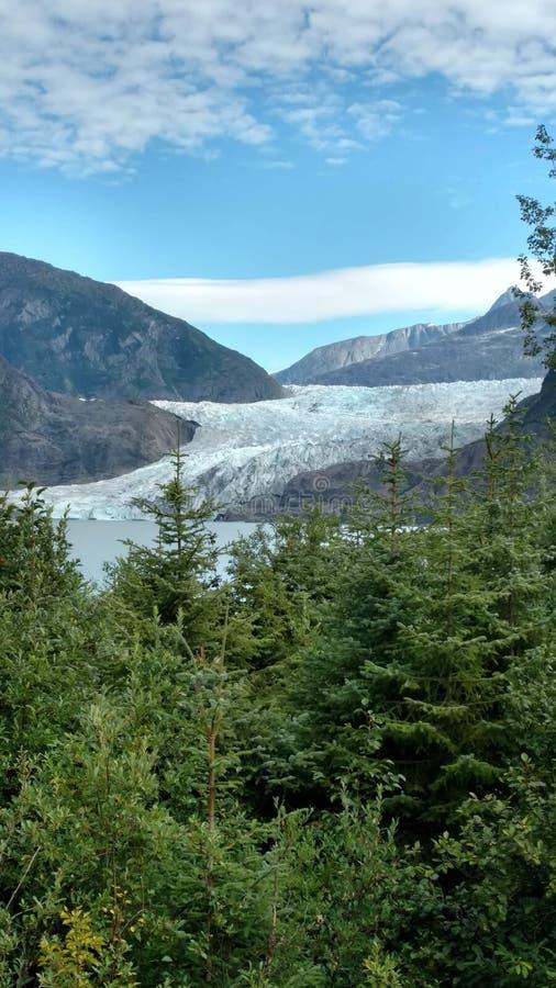 Mendenhallgletsjer in Juneau Alaska E r royalty-vrije stock foto's