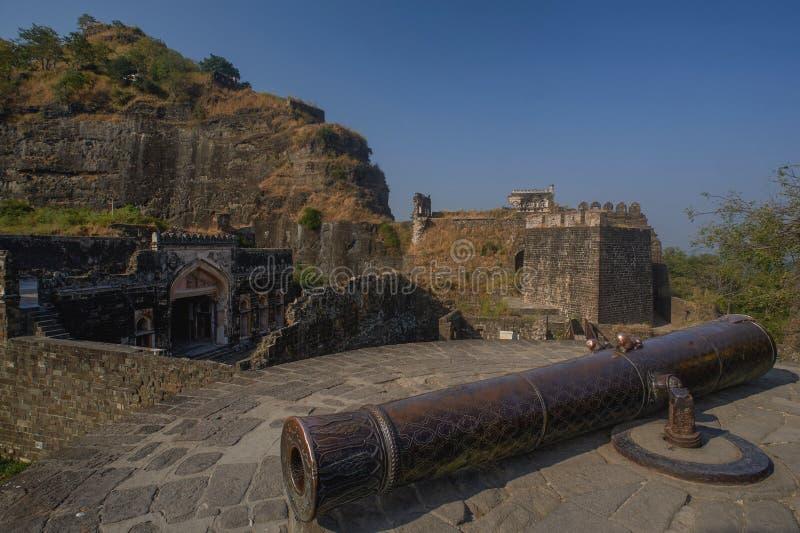 Mendha Tope Daulatabad, également connu sous le nom de Devagiri un fort du 14ème siècle près du maharashtra d'Aurangabad photo stock