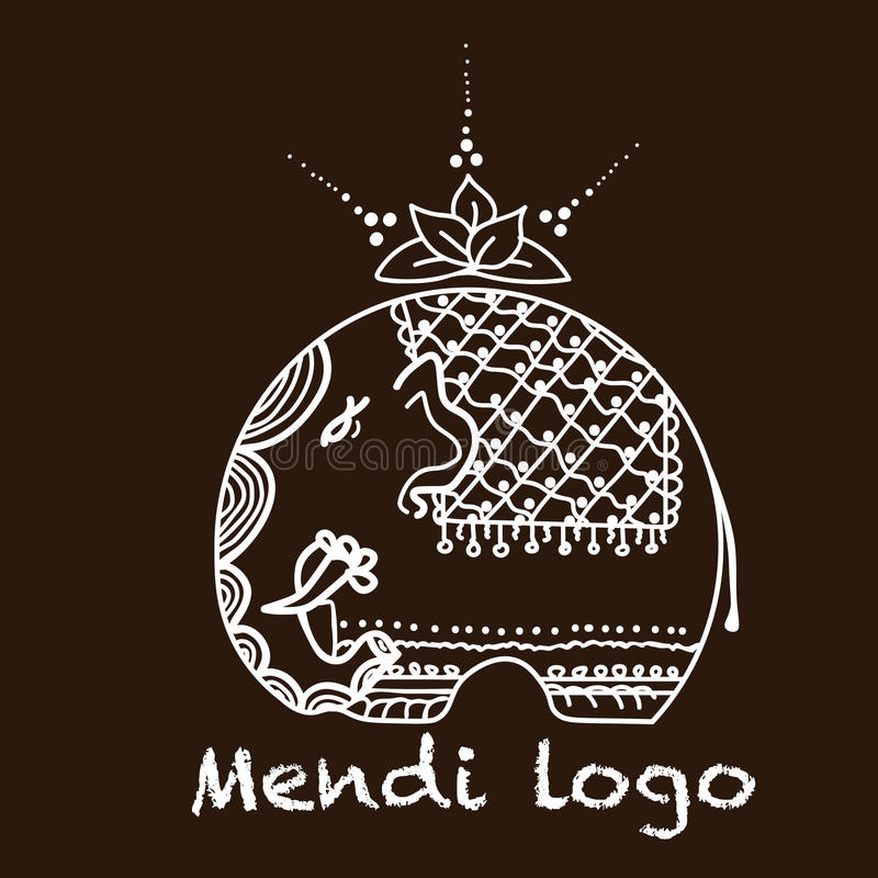 Mendi de logo d'éléphant photographie stock libre de droits