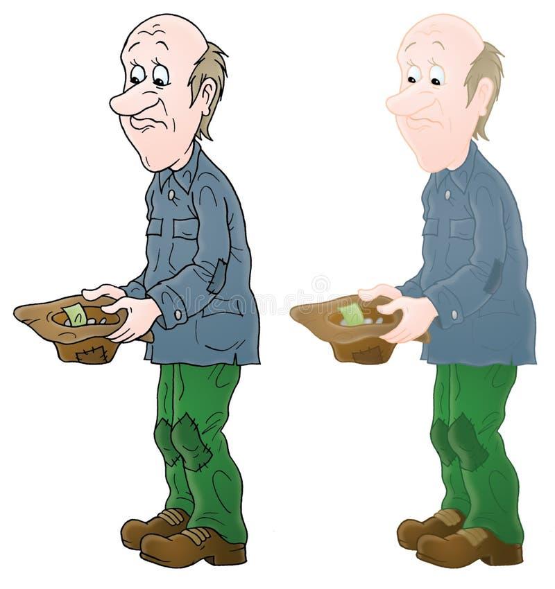 Mendiant illustration de vecteur