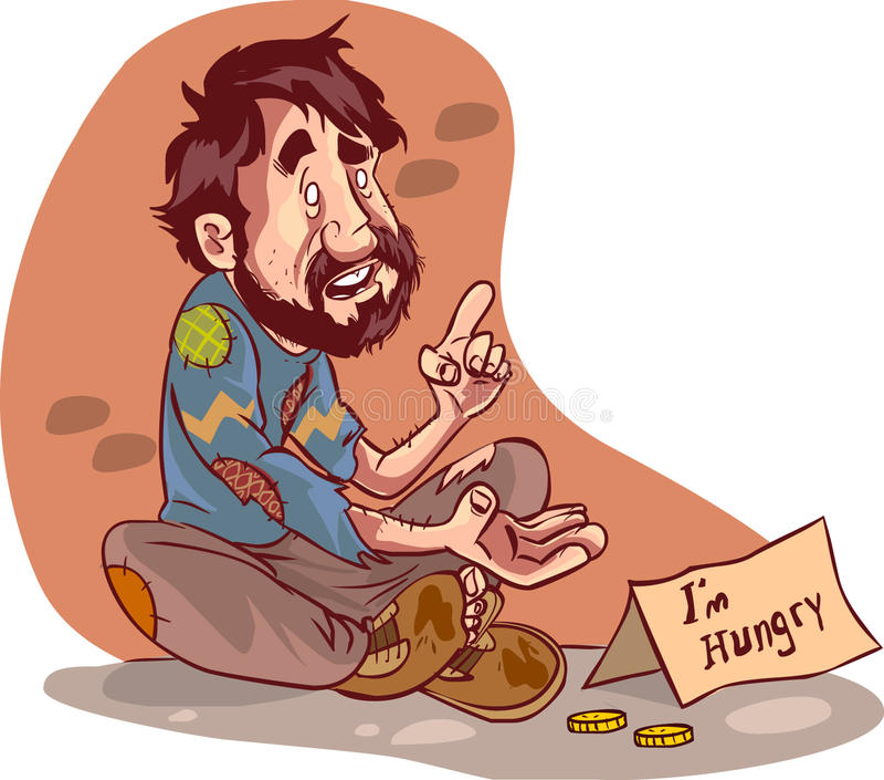Mendiant illustration libre de droits
