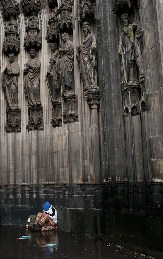 Mendiant de Cologne photos stock